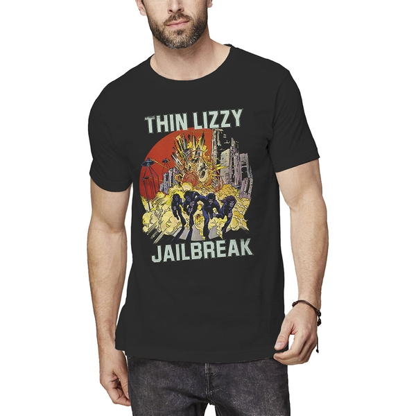 Thin Lizzy - Jailbreak Explosion Unisex Small T-Shirt - Black