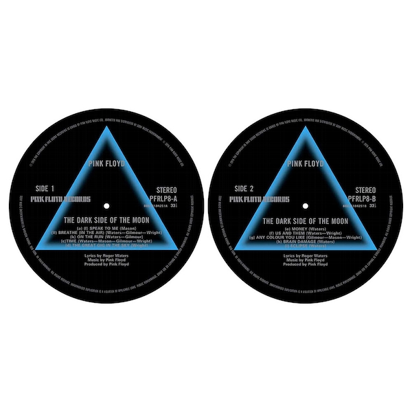 Pink Floyd - Dark Side Of The Moon Turntable Slipmat Set