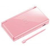 Lite Console System in Pink with Nintendogs Labrador Game DS