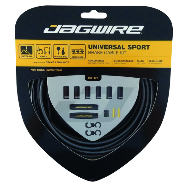 Jagwire Universal Sport Brake Cable Kit Carbon Silver