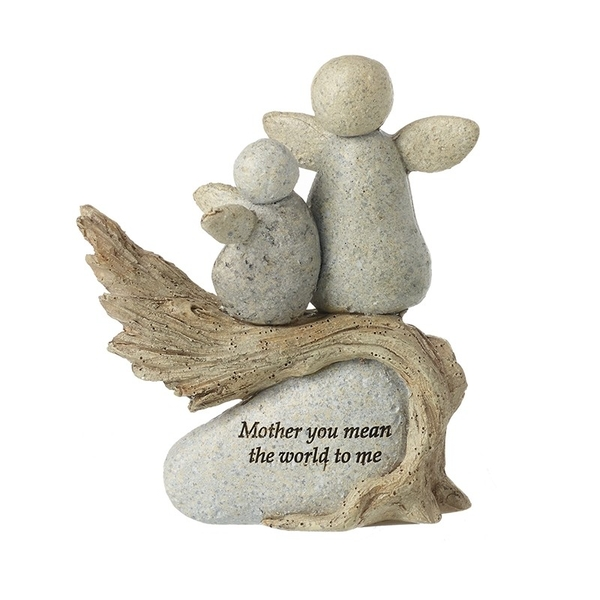 Mother Mean The World Angels Resin Stone By Heaven Sends