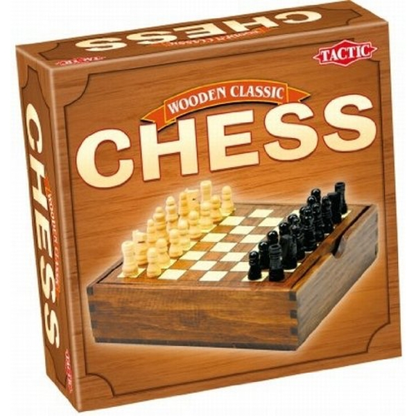 Chess - Wooden Classic Game - Travel Size Board Game - Image 1