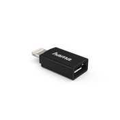 Hama Micro USB Adapter to Apple Lightning Plug, MFI, black