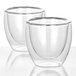 Double Walled Insulated Tea & Coffee Glasses | M&W Set of 2 - 80ml - Image 2