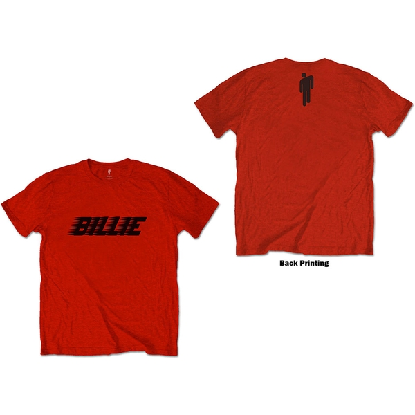 Billie Eilish - Racer Logo & Blohsh Unisex Small T-Shirt - Red