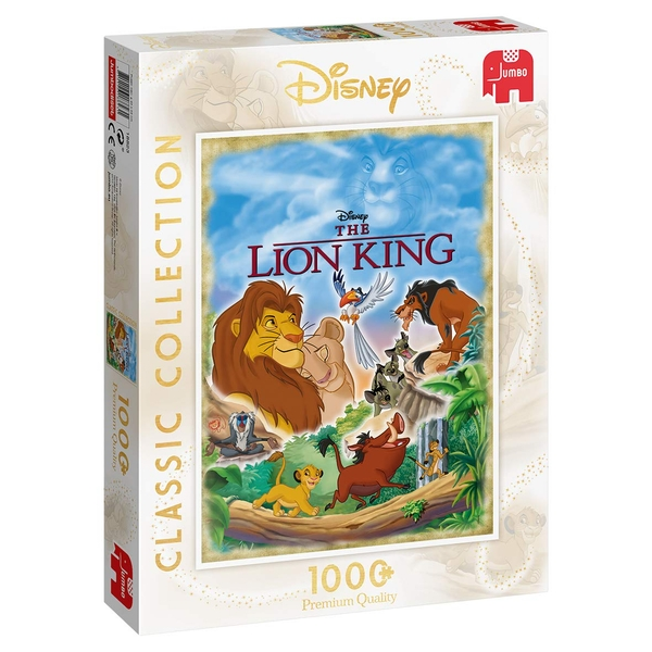 Jumbo Disney Classic Collection The Lion King Movie Poster 1000 Piece Jigsaw Puzzle