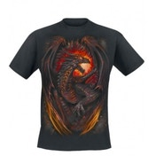 Spiral Dragon Furnace T-Shirt Medium Black
