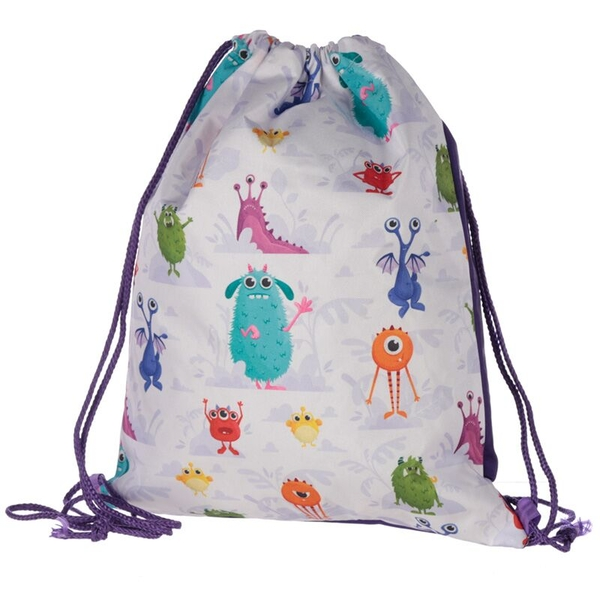 Kids Monsters Design Handy Drawstring Bag