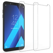 CASEFLEX SAMSUNG GALAXY A6 (2018) TEMPERED GLASS (TWIN PACK) - CLEAR
