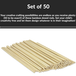 Set of 50 Bamboo Dowel Rods | Pukkr - Image 4