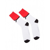 Pokemon Pokeball Trainer Crew Socks-  39/42 - Red & White