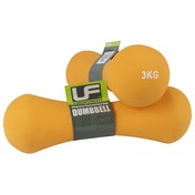 UFE Bone Dumbbells Neoprene Covered 3.0kg Orange