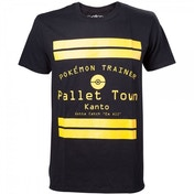 Pokemon Pallet Town Kanto Mens Small Black T-Shirt