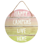 Happy Camper Hanging Sign