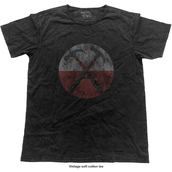 Pink Floyd - The Wall Vintage Hammers Unisex Small T-Shirt - Black