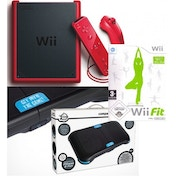Wii Mini Console + Wii Fit Game and Balance Board in Black