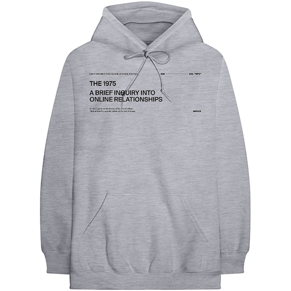 The 1975 - ABIIOR Version 2. Men's XX-Large Pullover Hoodie - Grey