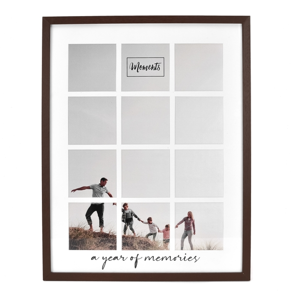 Moments Wooden Collage Frame - A Year of Memories