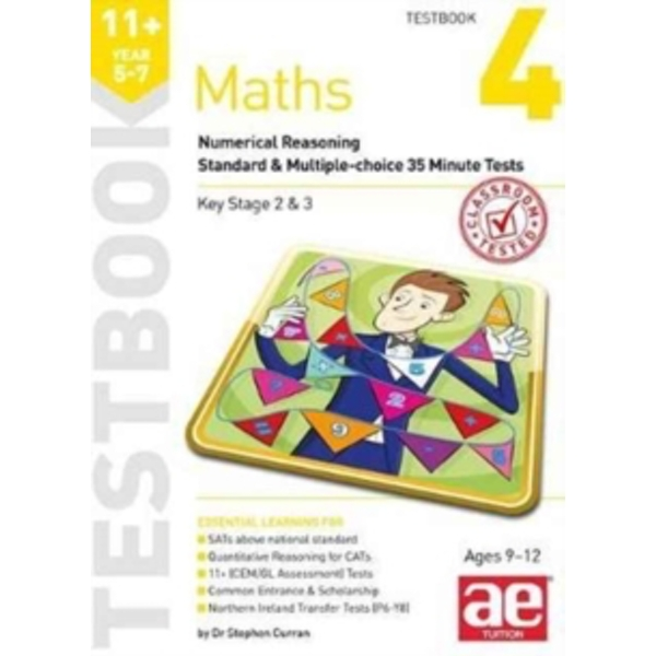 11+ Maths Year 5-7 Testbook 3: Numerical Reasoning Standard & Multiple-Choice 35 Minute Tests by Stephen C. Curran (Paperback, 2017)