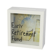Early Retirement Fund Money Box Frame