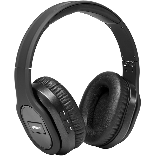 Groov-e GVBT1000BK Elite Wireless Bluetooth Headphones with Active  Noise Cancelling - Black