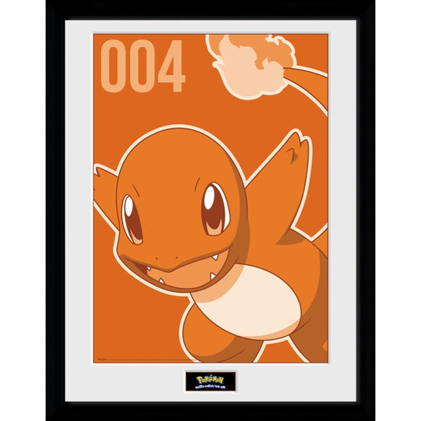 Pokemon Charmander Mono Collector Print