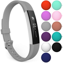Yousave Strap Single Large - Grey compatible with Fitbit Alta / Alta HR