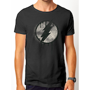 DC Originals - The Flash Spray Logo Men's Large T-Shirt - Grey