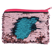 Pink and Blue Reversible Sequin Purse