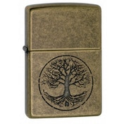 Zippo Tree Of Life Antique Brass Lighter