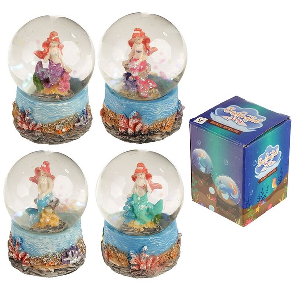 Mini Mermaid Snow Globe (1 Random Supplied)