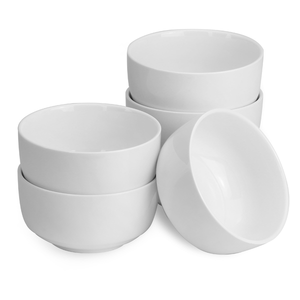 Set Of 6 Porcelain 150ml Bowls | M&W
