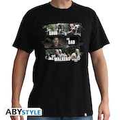 The Walking Dead - Good,Bad,Walkers Men's Large T-Shirt - Black