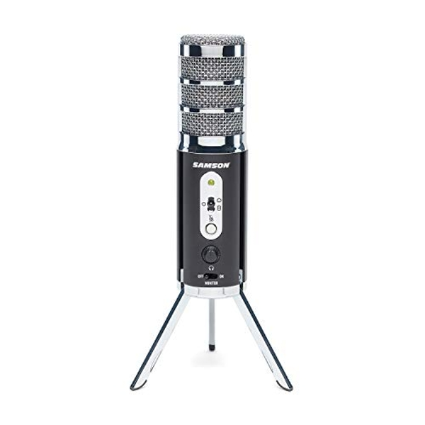 SAMSON Satellite - USB/iOS Broadcast Microphone for capturing high-definition audio on your computer, iPhone or iPad - Black, SASAT