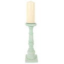 Medium Rustic Mint Candlestick