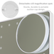 LED Light Up Illuminated Make Up Bathroom Mirror With Magnifier   M&W White New - Image 5