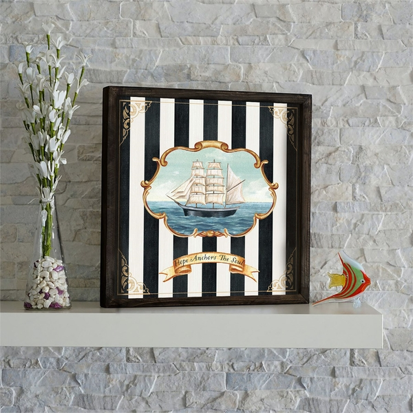 KZM587 Multicolor Decorative Framed MDF Painting