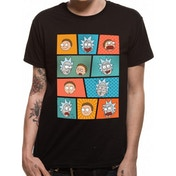 Rick And Morty - Pop Art Faces Men's Small T-Shirt - Black