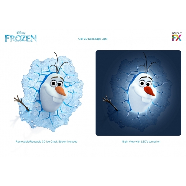 Olaf 3D Deco Light (Disney Frozen) by 3D Light FX - Image 1