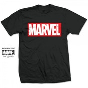 Marvel Comics Marvel Box Logo Mens Black T Shirt Medium
