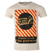 Better Call Saul Attorney At Law T-shirt Mens Large Beige