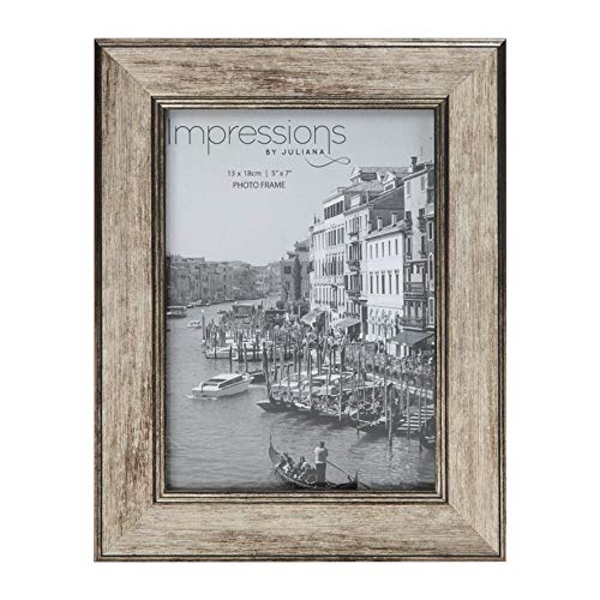 """5"""" x 7"""" - Impressions Tarnished Pewter Look Photo Frame"""