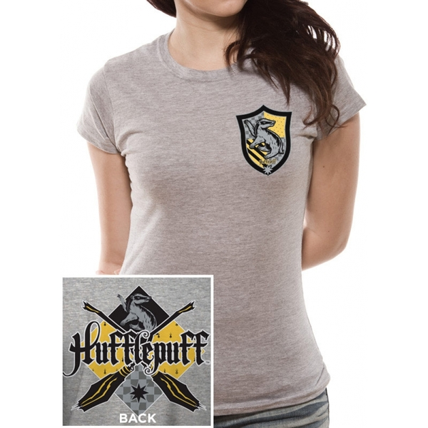 69d2a44d Hey! Stay with us... Harry Potter - House Hufflepuff Women's X-Large T-Shirt  - Grey