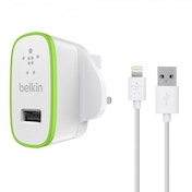 Belkin Ultra Fast 2.4amp USB Mains Charger with 1.2m Lightning Charge and Sync Cable in White for iPad Air  iPad Mini Retina  Iphone 5  5s and 5c