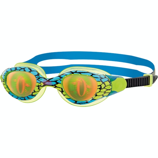Zoggs Junior Sea Demon Goggles Green/Blue/Hologram Junior