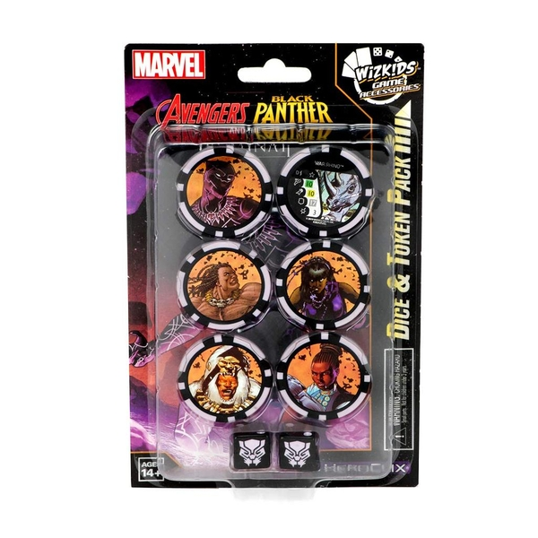Marvel HeroClix Avengers Black Panther and the Illuminati Dice and Token Pack