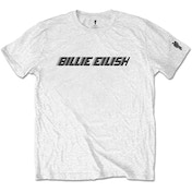 Billie Eilish - Black Racer Logo Men's Small T-Shirt - White