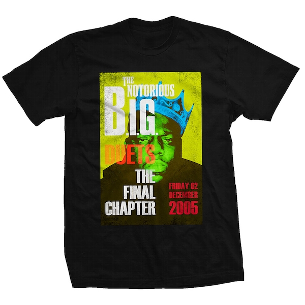 Biggie Smalls - Final Chapter Unisex X-Large T-Shirt - Black