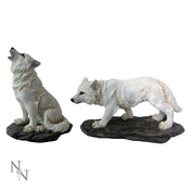 Before the Chase (Set of 2) Wolf Figurine