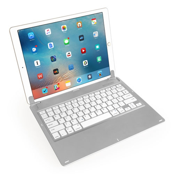 Caseflex iPad Pro Keyboard - Silver/White